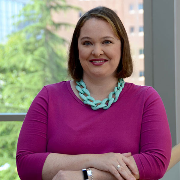 Portrait of Amy Belflower Thomas, MHA, MSPH, CPH, Accreditation Administrator