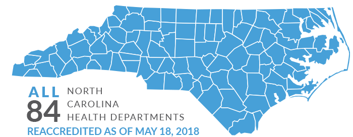 All 84 N.C. Counties Reaccredited as of May 18, 2018